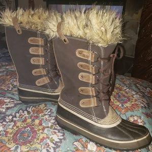 Sorel Suede Fur Trimmed Waterproof Boots - Mens 10